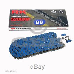 Chain Kit Yamaha Yfm 700 R Raptor 06-19 Rk 520 Gxw Bb Blue 98 Open 14/38