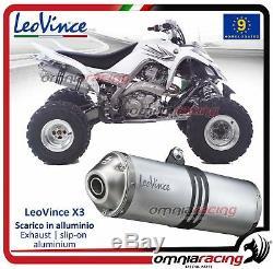 Leovince X3 Atv / Quad Exhaust Muffler Yamaha Yfm 700 R Raptor 20062012