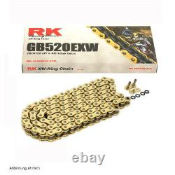 Yamaha Chain Kit Yfm 700 R Raptor 06-19 Rk Chain GB 520 Exw 98 Open Gold 14/38