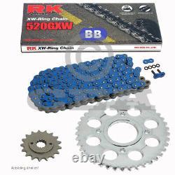 Yamaha Yfm 700 R Raptor Chain Kit 06-19 Rk Bb 520 Gxw 98 Blue Open 14/38