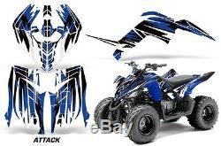 Atv Graphique Kit Décalque Autocollant pour Yamaha Raptor 90 Yfm90 09-15 Attaque