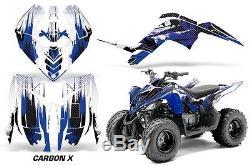 Atv Graphique Kit Décalque Autocollant pour Yamaha Raptor 90 Yfm90 09-15 Carbonx