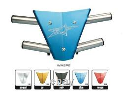 Bumper CROSS-PRO Waspe plaque bleue Yamaha YFM700R Raptor BUMPER TYPE WASPE YFM