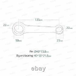 KiWAV connecting rod kit bielle RY-2230 pour Yamaha YFM 700R RAPTOR'06-'20 ATV