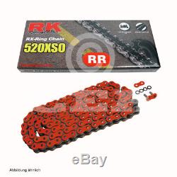Kit Chaîne Yamaha YFM 700 R Raptor 06-17 Chaîne RK RR 520 Xso 98 Ouvrir Rouge 14