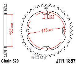Kit chaine Complet à Joint Torique renforcé RAPTOR 350 YFM S 2004- QUAD YAMAHA