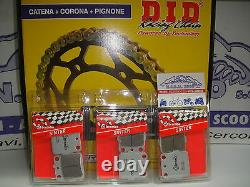 Set Transmission DID + Plaquettes Brembo Yamaha 660 YFM R Raptor 03/04 DID11