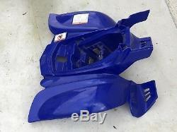 Une Coque Carenage Plastique Garde Boue Arriere Bleu Yamaha Yfm 50 Raptor 2005