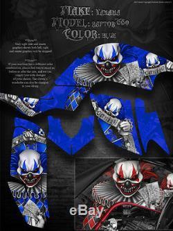 Yamaha Raptor 660 660R les Freak Show YFM660 Stickers Graphique pour Bleu