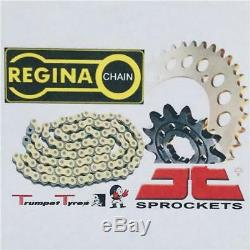 Yamaha YFM350 Raptor 04 13 Regina Chaîne X Bague Zrp 520 JT Pignon Set 13 38