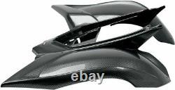 Yamaha YFM700R Raptor 06-12 MAIER Standard Arrière FENDER Noir Carbon Fibre Look