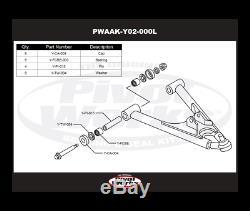 Yamaha Yfm 250-350 Raptor-350 Warrior-kit Reconditionnement De Triangles Inferie
